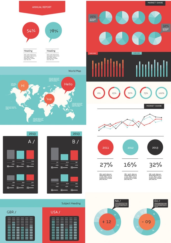 Infographics for stock imagery website.