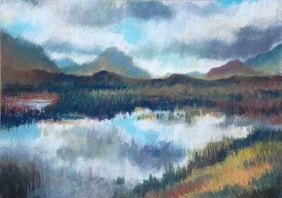 From a visit to the Isle of Skye in 2011.  Pastel on Ingres paper.