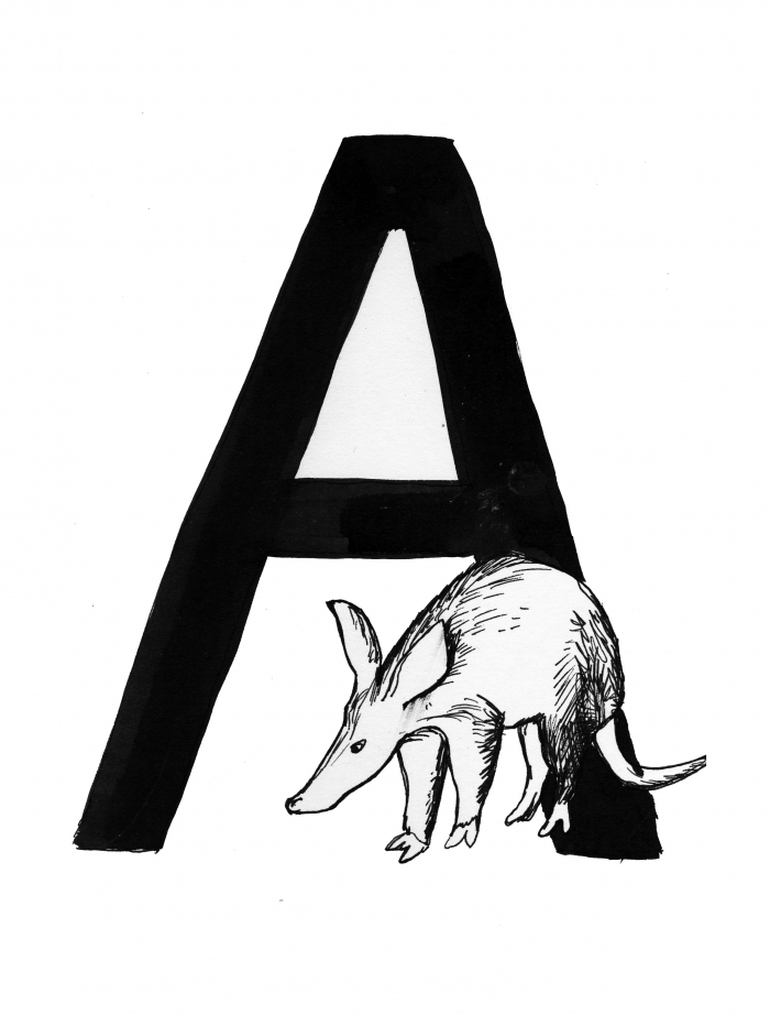 The Letter A - from 'Project from a Poster', with Artfulscribe and poetry from Matt West, 2013