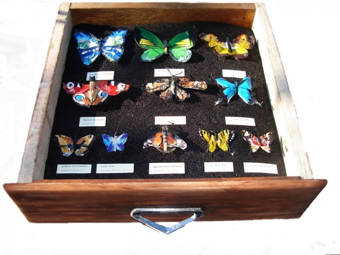 Butterflies made from waste material, 2007