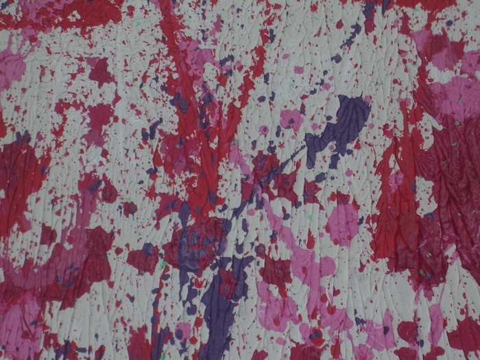 'Red Shred 'by Elizabeth McCrea - acrylic on plaster- not for sale