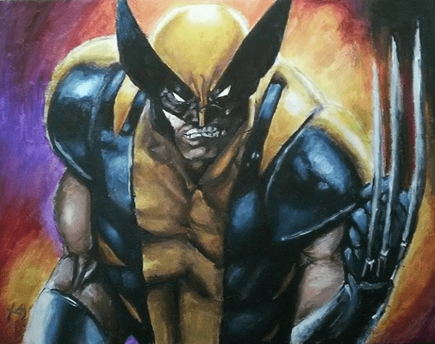 A3 commissioned acrylic painting on canvas - Wolverine