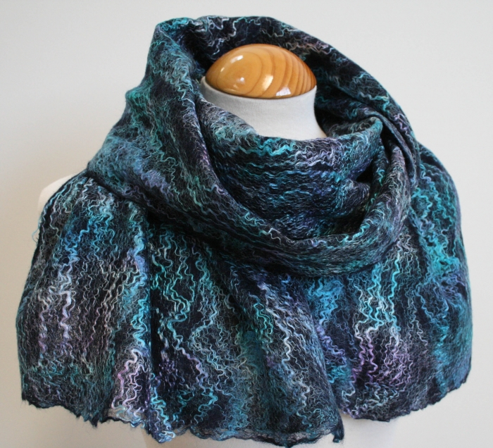 Scarves available to buy from www.FeltSoLovely.etsy.com