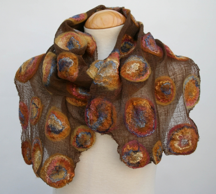 Scarves available to buy via www.FeltSoLovely.etsy.com