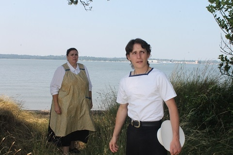 Between Wind and Water - Publicity photo showing Ashley Christmas as Grace and Timber Kelly as Frederick (July 13)